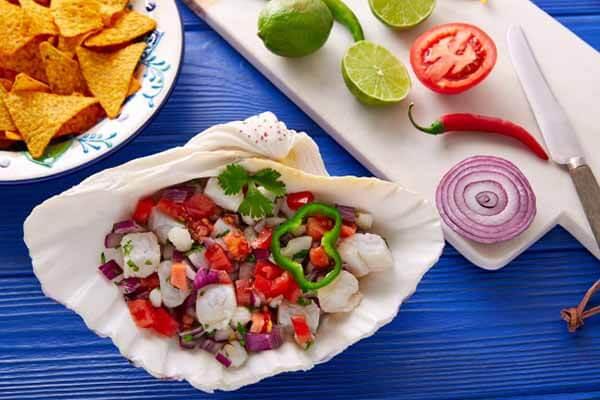 Ceviche de pescado nayarit